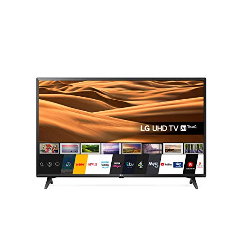 LG 49UM7050PLF 49 inch UHD 4K HDR Smart LED TV with Freeview Play – Ceramic Black Colour (2020 Model) [Energy Class A+]