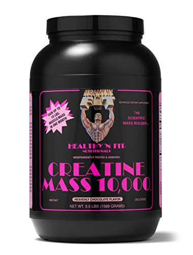 Healthy 'N Fit – CREATINE MASS 10,000 – 3.5lb – Heavenly Chocolate