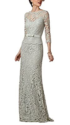 Prommay Women's Lace Mother of the Bride Dresses Formal Gown
