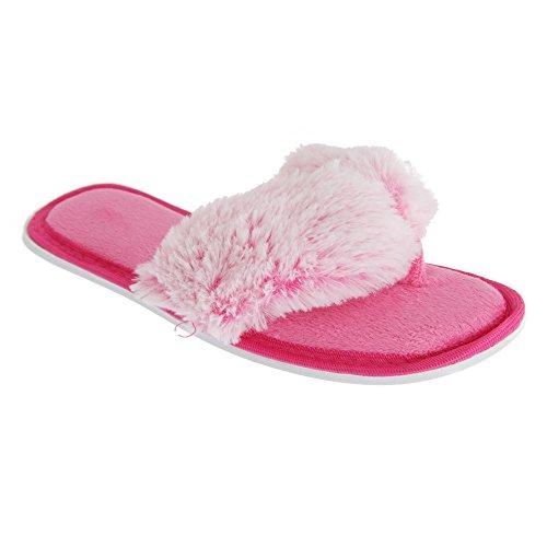 Forever Dreaming Womens Memory Foam Flip-Flop Slippers Pink bbzDZM