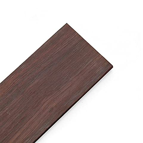 StewMac Unslotted Fingerboard for Guitar, Rosewood - Ebony Rosewood Fretboard