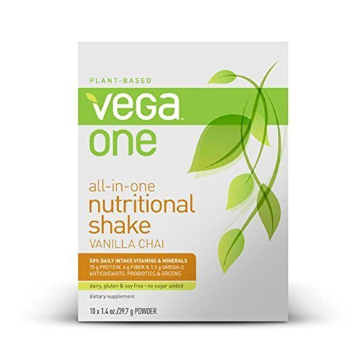 Vega One All-in-One Nutritional Shake, Vanilla Chai, 10 Count by Vega - HPC