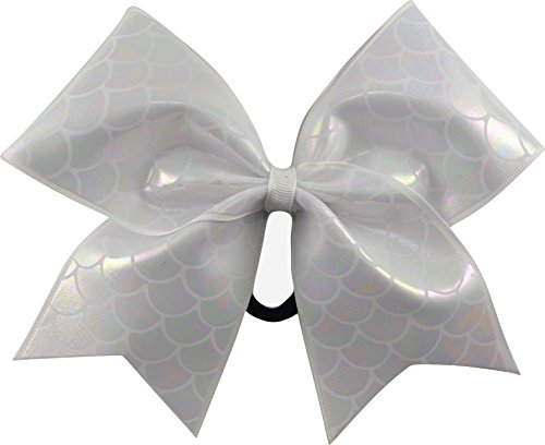 Sparkle Bows Cheer Mermaid Tails Cheer Bow (Pearl Iridescent) - Iridescent Bow