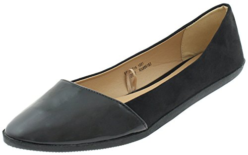 Black Pointy Flats Ladies Capelli New York YCqwHgp