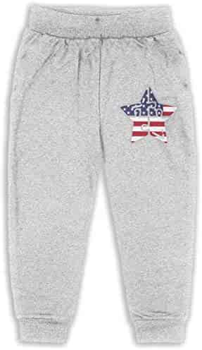 Udyi/&Jln-97 Autism Cancer Awareness USA Flag Unisex Baby Pants Soft Cozy Girls Boys Elastic Trousers