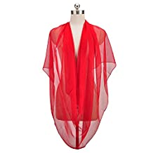Women's Classic Fashion Solid Color Chiffon Scarves Long Size Shawl