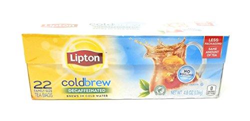 Lipton Decaf Tea - Lipton Black Tea Bags, Cold Brew, Decaf, 22 ct