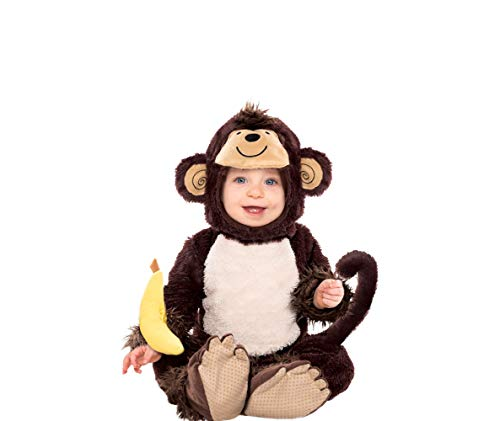 AMSCAN Baby Monkey Costume for Infants, 0-6M, with Included Accessories
