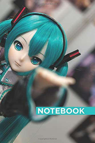 """Notebook: Hatsune Miku : Journal Diary, Cute Anime gift for girls: Manga for girls, Lined notebook 120 pages, 6"""" x 9"""""""