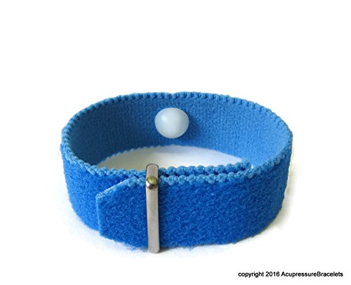 Multi Functional Healing Acupressure Bracelet for Wrist Pain, Carpal Tunnel, Tendonitis. (one band) Blue (medium 7