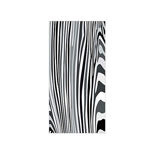 - 3D Decorative Film Privacy Window Film No Glue,Zebra Print,Zebra Pattern Vertical Striped Nature Wildlife Inspired Fashion Illustration,Black White,for Home&Office