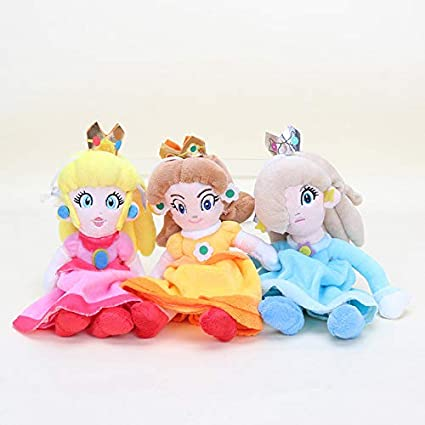 Full Moon 3pcs Set6 20cm Anime Super Mario Bros Plush Toys Mario Princess Peach Daisy Rosalina Figure Plush Doll Stuffed Toy Kids