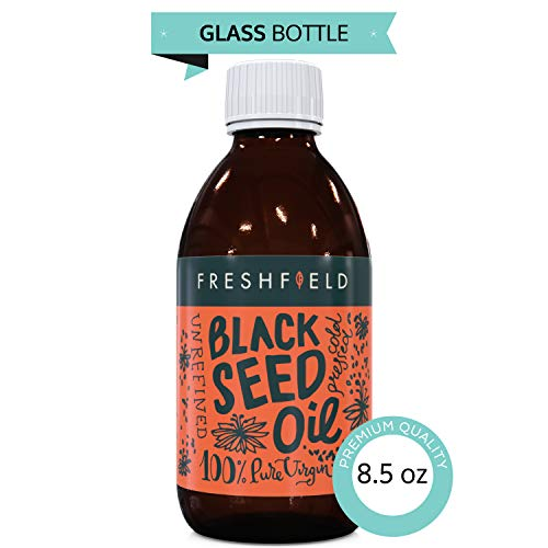 Freshfield Black Seed Oil: Cold Pressed | Ultra Strength (Black Cumin Seed Oil, Nigella Sativa) 1.6%+ Thymoquinone | One of The Most Amazing Herbs! Premium, Pure and 100% Natural. 8.5 oz Glass Bottle by Freshfield Naturals (Image #8)