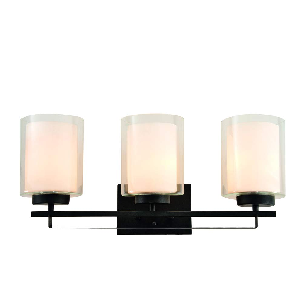 Design House 578161 Impala Three Vanity Light, Rustic Bronze
