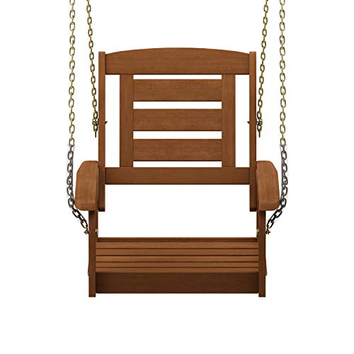 (Furinno FG18414SC Tioman Porch Swing, 1-Seater Without Frame Natural)