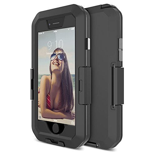 "TETHYS ""Movee X"" iPhone 6 6S Waterproof Case (4.7 Inches) [Dark Black] Secure-Lock [NOT COMPATIBLE with TouchID Sensor]"