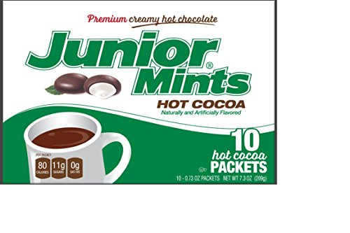 Junior Mint Chocolate Mint Single-Cup Hot Cocoa Packets, 10 Count, 7.3 oz, (Pack of - 10 Drink Packets Hot