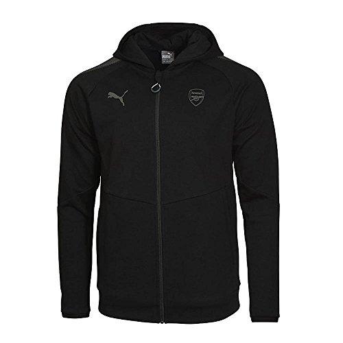 2017-2018 Arsenal Puma Casual Performance Zip Hoody (Black) - - Shop Uk Puma