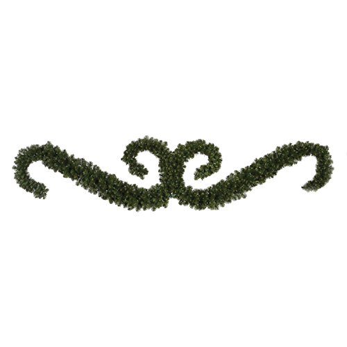 9' Grand Teton Double ''S'' Festoon Artificial Christmas Swag - Unlit by Vickerman