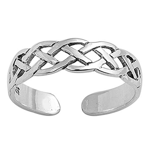 Celtic Toe Ring Fashion Beach Adjustable Fine Jewelry Sterling Silver 925 ()