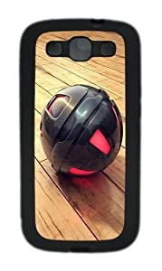 3D Black And Red Sphere Custom Design Samsung Galaxy S3 Case Cover - TPU - Black