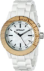 Sprout Women's ST/6500MPWT White Resin Bracelet Luminous Watch