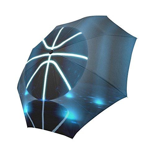 Cheap InterestPrint Automatic Foldable Umbrella Basketball Compact Folding Umbrellas with Anti-Slip Rubberized Grip For Women Men Kids