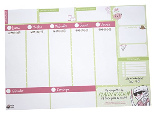 Pedrita Parker 00027Planner A4, 210x 297mm, Green [English Language not Guaranteed]