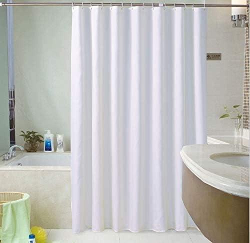 Fabric Shower Curtain Plain White 180cm x 220cm Extra Long