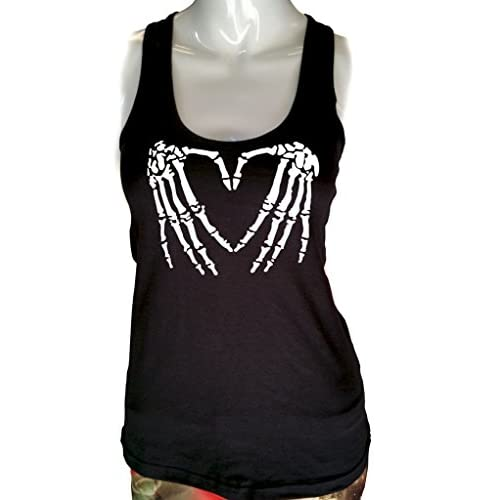 d3979084ed67b hot sale 2017 Gs-eagle Women s Heart-Shaped Skeleton hands Graphic Design Tank  Top