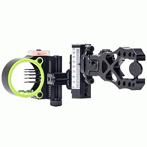 Assault Pin - Black Gold Ascent Verdict Assault Archery Sight-Black/Right Hand Adjustable-Black/5 Pin/.019