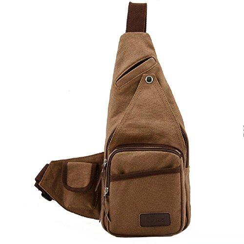 ZeleToile YF-01 Pro - Mochila para hombre (resistente al agua, piel), diseño triangular retro, color marrón Coffee: YF-01