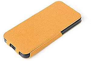 Rock Eternal Series Slim Top Flip Case Cover with Screen Guard for Apple iPhone SE / 5 / 5S - Orange