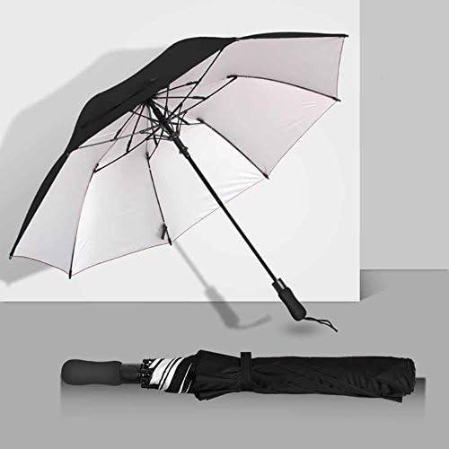 biutefang Umbrellas迷彩アウトドアパラソル折りたたみ傘自動傘雨傘傘110x 75cm ブラック 6933322203900