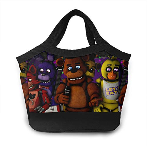Funny FNAF 3D Printed Lunch Bag Kids Adult High Capacity Bento Box Cooler Insulation Shopping Bags]()