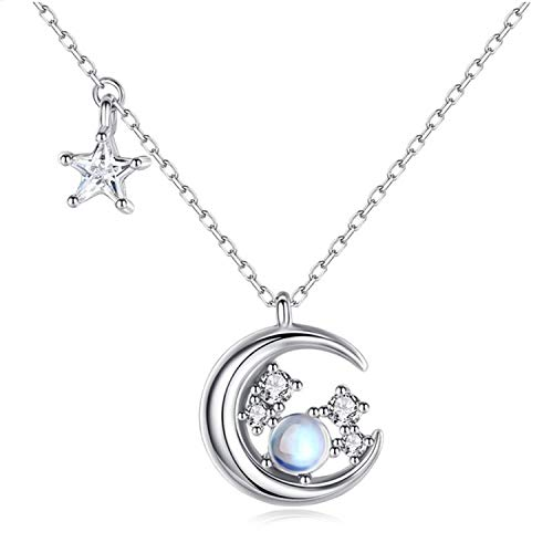Xch Necklace Pendant Disc Chain Statement Clavicle Necklace for Women Girls