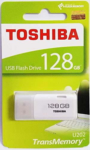 (Toshiba USB2.0 Flash Drive 128GB USB 2.0 128G Flash Disk TransMemory U202 Hayabusa USB Memory Stick White (THN-U202W1280A4))