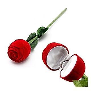 Boite Rose Pour Bague Alliance Ecrin Mariage Fleur Romantique