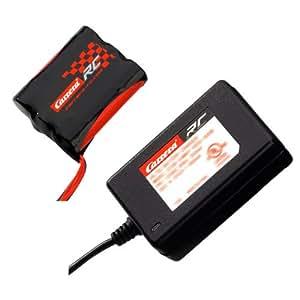 Carrera RC 370800011 - Batería y cargador para barco y coches Carrera RC 2,4 GHz (batería de 11,1 V, 1500 mAh y cargador de 12,6 V, 800 mA) [importado de Alemania]