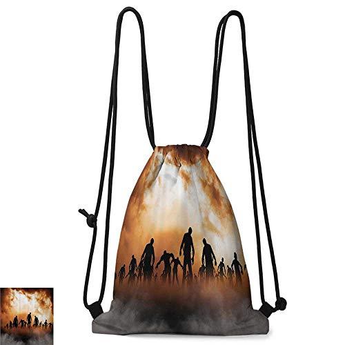 Outdoor sports backpack Halloween Decorations Zombies Dead Men Body Walking in the Doom Mist at Dark Night Sky Haunted Decor W14