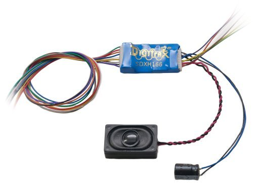 Digitrax DGTSDXH166D HO 16 Bit Sound Decoder, Motor 6-Functions 1A