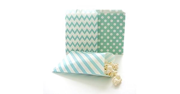 Amazon.com: Verde azulado Papel CANDY bolsas, Kids Party ...