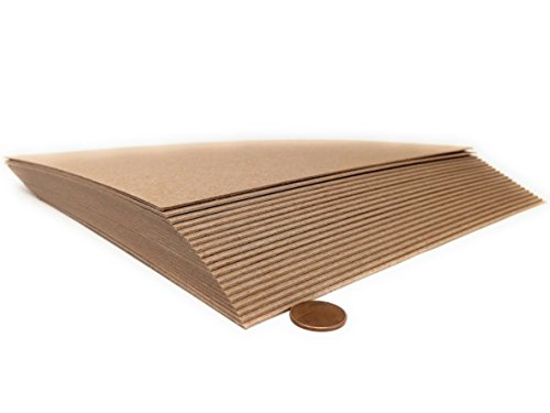 12 x 12 Inches 52 Point Kraft Heavy Duty Chipboard Sheets - 15 Per Pack