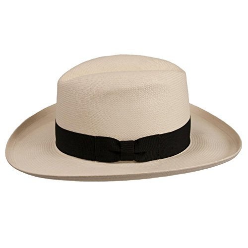 Jual Levine Hat Co. Men s Homburg Panama Straw Dress Godfather Hat ... 47ff2107e0c1