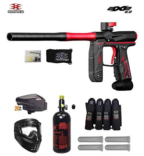 Maddog Empire Axe 2.0 Expert Paintball Gun Package - Dust Black/Dust Red