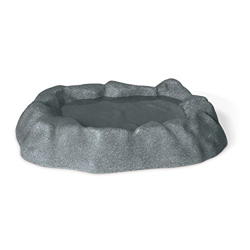 K&H Pet Products 9005 Birdbath, One gallon, Gray by K&H Pet Products