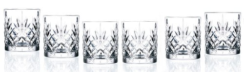 Lorren Home Trends Crystal Melodia Collection Double Old Fashioned Glass Set -