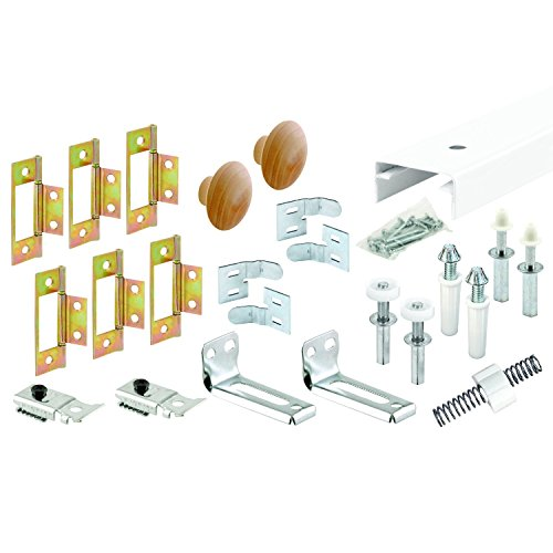 Slide-Co 161796 Bi-Fold Closet Track Kit (4 Door Hardware Pack), 60