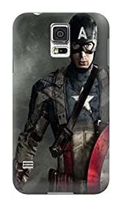 cool grip matte hard case tpu phone cover for the new Samsung Galaxy s5 of Avengers Captain America in Fashion E-Mall