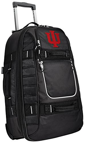 Small Indiana University Carry-On Bag Wheeled Suitcase Luggage Bags by Broad Bay